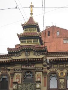 Двухъярусная башенка «пагода»