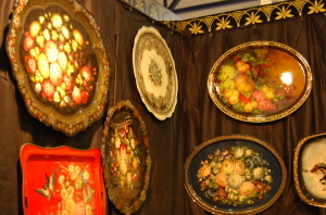 Жостовские подносы на выставке Ладья-2010.