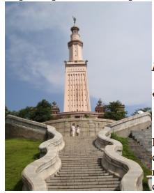 Копия Александрийского маяка в парке «Окно в мир» Китай, Шэньчжэн.